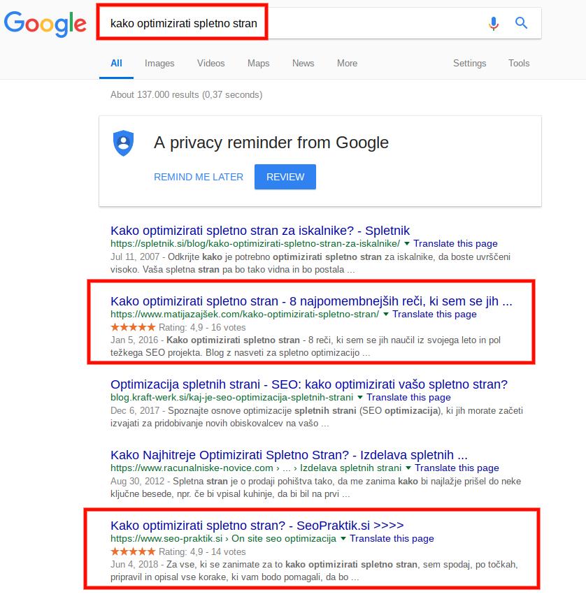 dominacija na googlu
