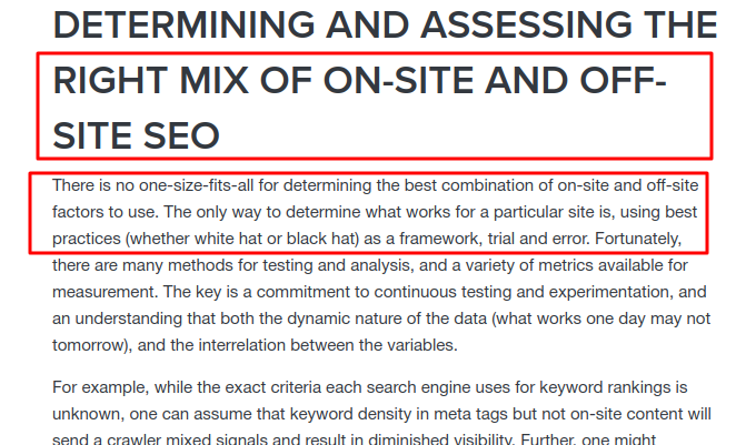 onsite seo vs offsite seo optimizacija